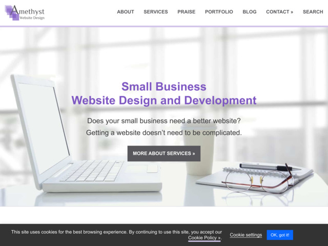 amethystwebsitedesign.com preview image