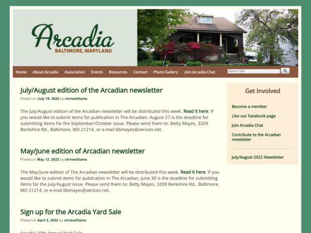 arcadia-baltimore.org preview image