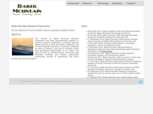 bakermountain.org preview image