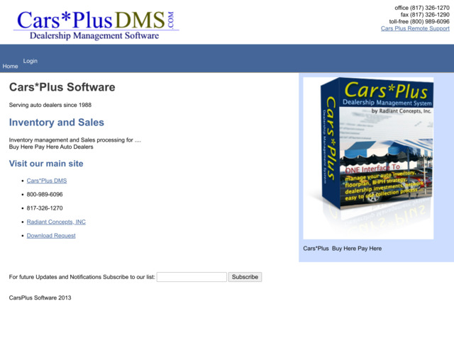 carsplussoftware.com preview image