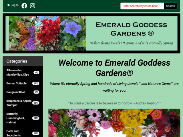 emeraldgoddessgardens.com preview image