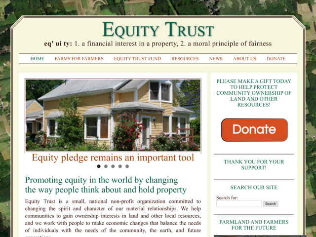 equitytrust.org preview image
