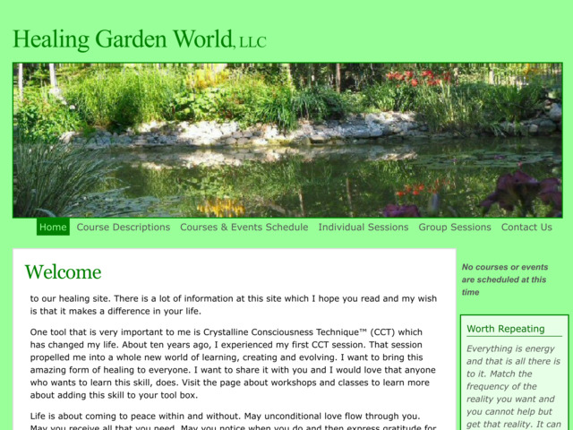 healinggardenworld.com preview image