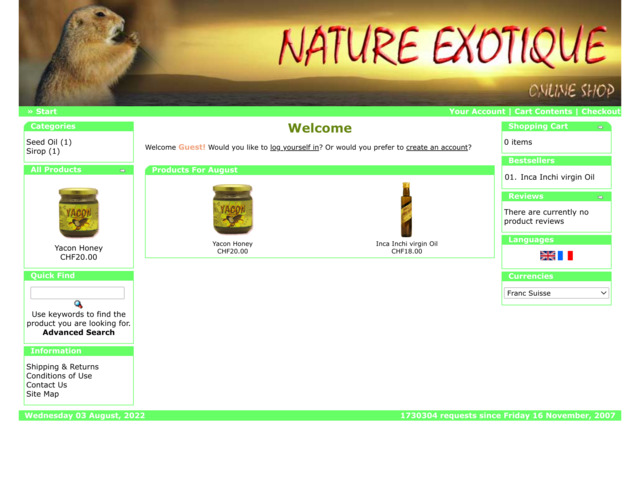 nature-exotique.ch preview image