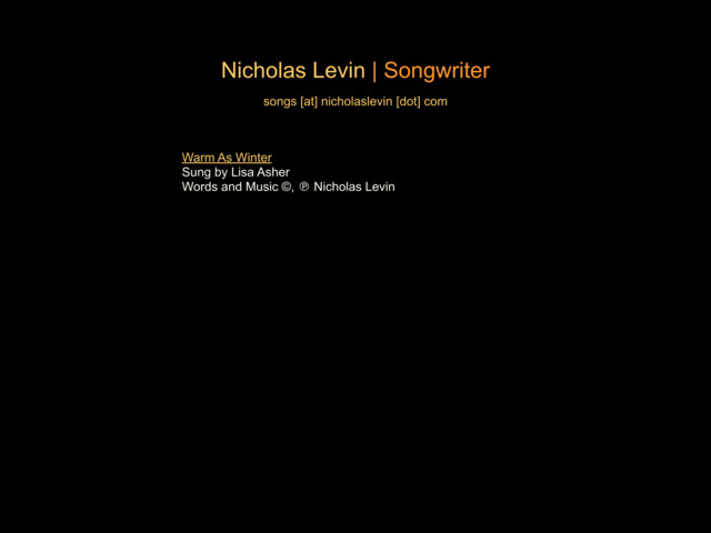 nicholaslevin.com preview image