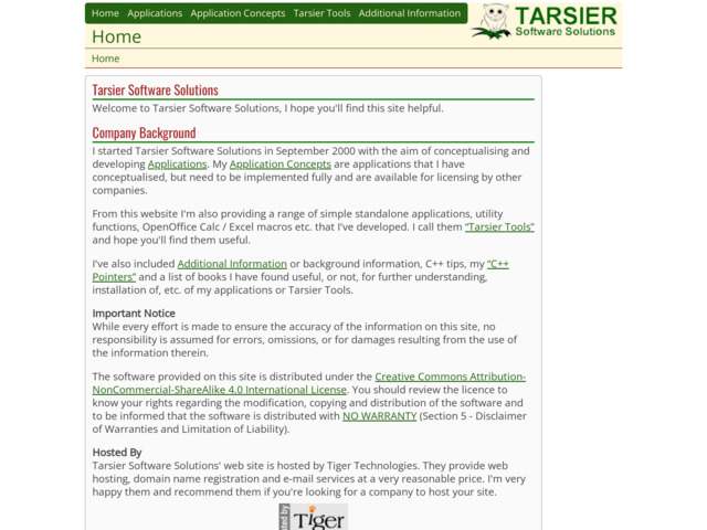 tarsiersoft.com preview image